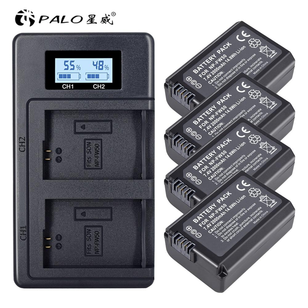 Batería NP-FW50 NP FW50 FW50 + cargador Dual LCD USB para Sony...