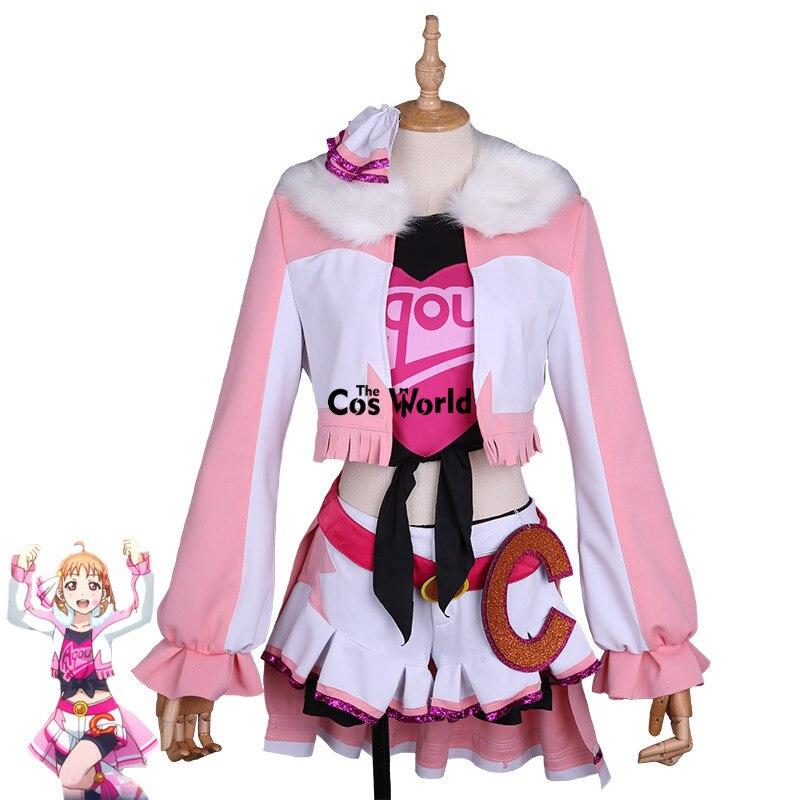 Love Live Sunshine milagro Wave Chika takami abrigo Tops vestido uniforme traje Anime Cosplay disfraces