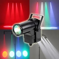 invoice to mr neil 4pcs 10w dmx pin spot beam light for mirror ball effect beam stage lighting rgbw 4in1 color dj show lights