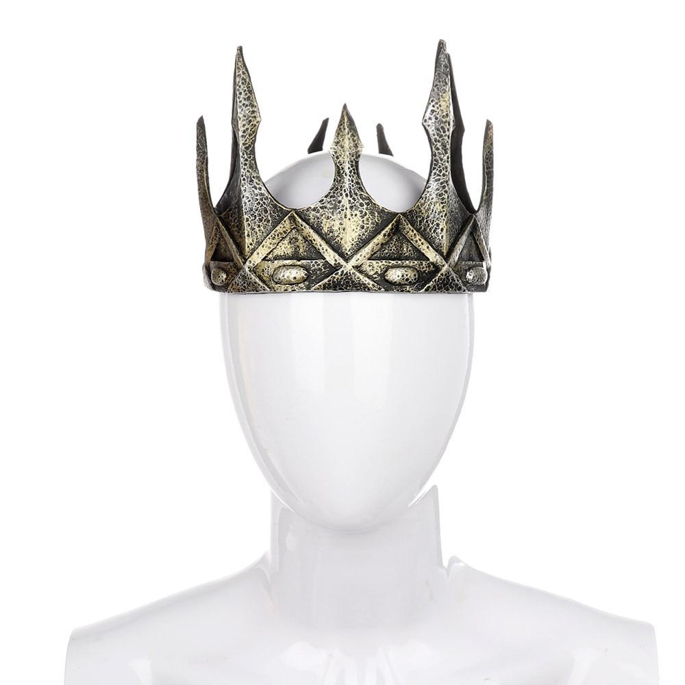 Ancient Headdress Larp Viking Corona Hombre Medieval Men Royal King Tiaras Crown Hair Accessories PU Cosplay Halloween Carnival