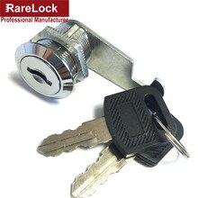 Ralllock serrure serrure à came tiroir de sécurité   4 tailles, cylindre porte, boîte à outils, serrure de boîte à outils, serrure de matériel 2 clés
