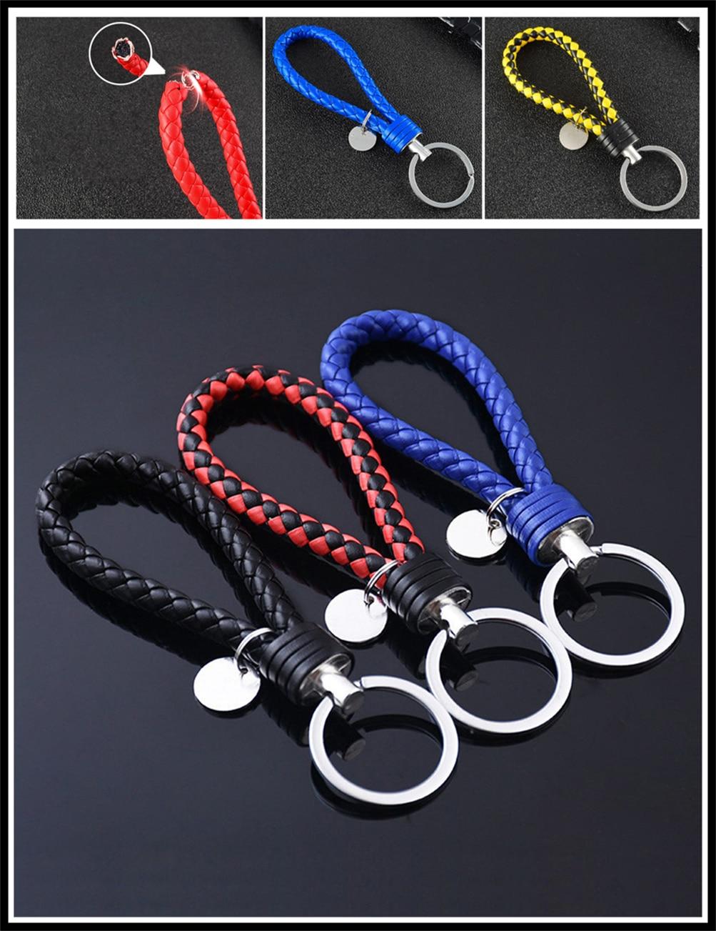 Universal de accesorios para automóvil motocicleta de cuero cuerda anillo de llave para Ford C-MAX Flex B-MAX Atlas territorio fórmula Vertrek