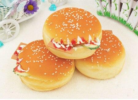 3 uds. De hamburguesa de queso artificial, hamburguesa grande, decoraciones para fiesta de cumpleaños regalos, puede ser imanes de nevera educación temprana