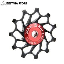 9G 11T Keramik Pulley CNC Gefräste Fahrrad Schaltwerk Stahl Lager Rad Rennrad Lager Teil zubehör Set