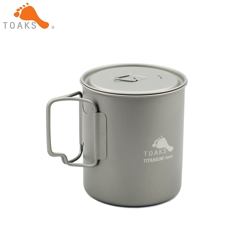 TOAKS Outdoor Hiking Camping Picnic Titanium Pot Mug Bowl 3 in1 Lightweight Camping Equipment 500ml 650ml 750ml 900ml 1100ml