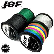 JOF marque ligne de pêche 1000M PE Multifilament tressé ligne de poisson 4 brins 10lb-80lb carpe pêche corde cordon matériel de pêche