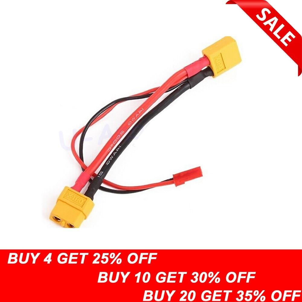 Cable de conversión XT60 macho a XT60 hembra y JST hembra, 1...