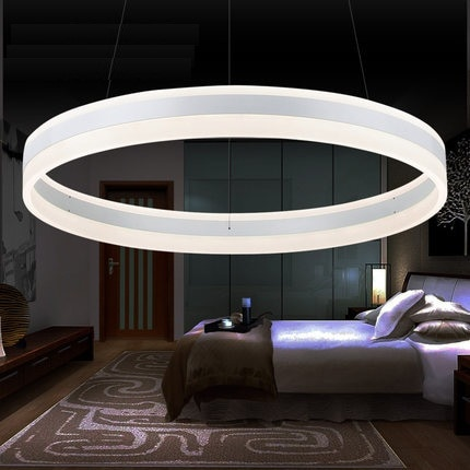 Creative Circular Acrylic Droplight Modern LED Pendant Light Fixtures For Dining Room Simple Hanging Lamp Indoor Lighting