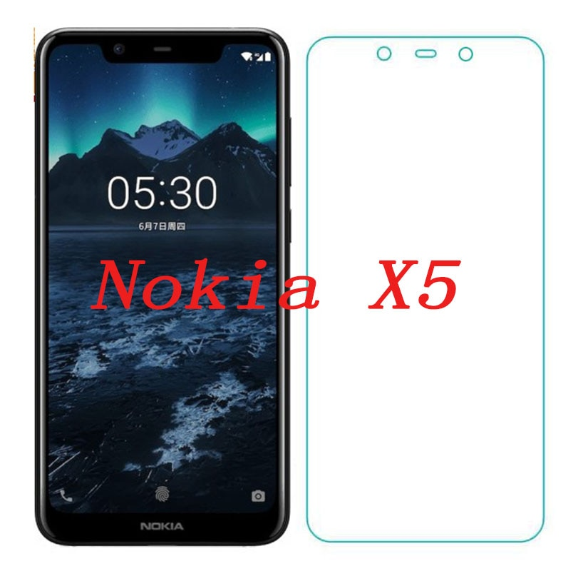 2PCS Smartphone Tempered Glass  for Nokia X5  9H Explosion-proof Protective Film Screen Protector co