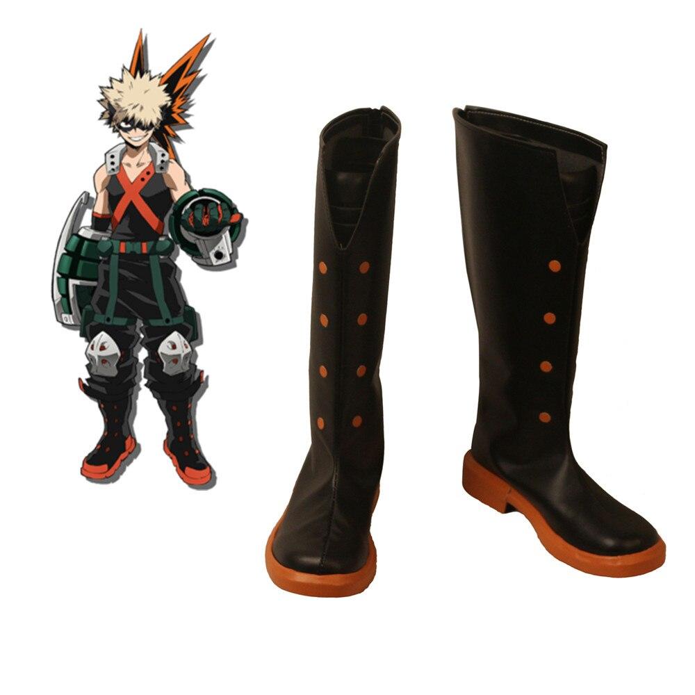 2019 anime My Hero Academia Cosplay Costumes My Hero Academia Bakugou Katsuki shoes Cosplay Custom Halloween cartoon shoes