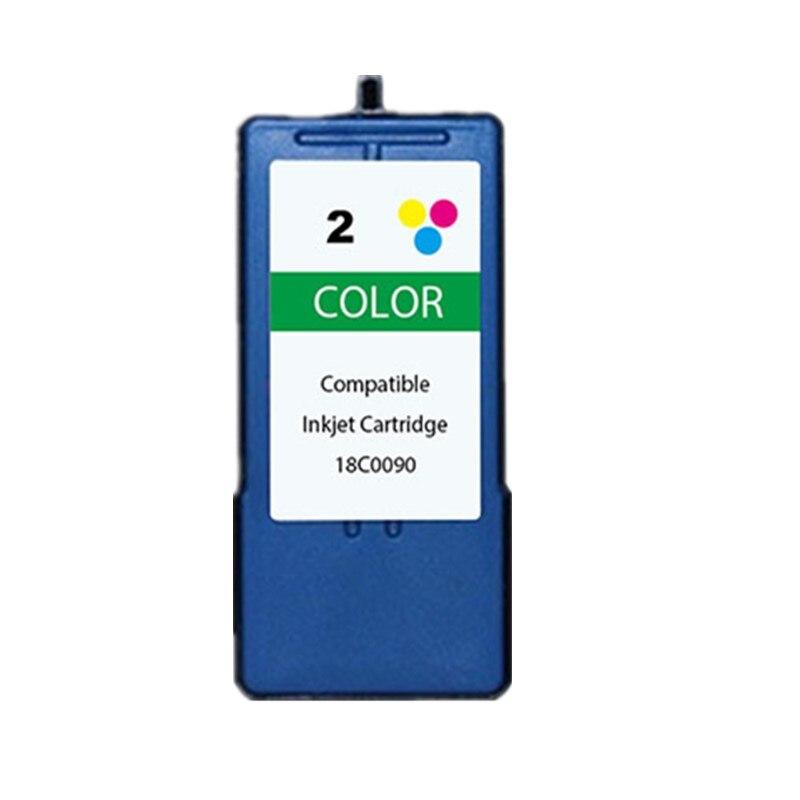 Remanufacturado para Lexmark 2 Color cartucho de tinta 02 #2 LM2 de inyección de tinta para X2480 X2580 X3480 X3580 X4580 Z1480 impresora 18C0090