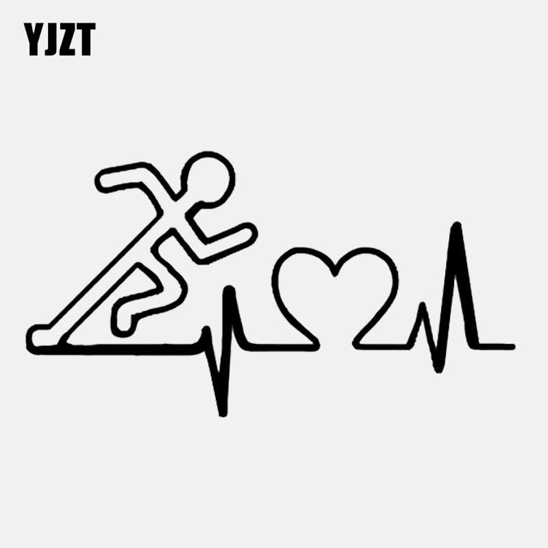 YJZT 16.1*8.8CM Fashion Running Decor Car Sticker Vinyl Accessories Extreme Movement Graphic C12-160