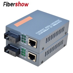 HTB-GS-03 1000 Mbps Gigabit De Fibra Óptica Media Converter Única Fibra Monomodo SC Porta Fonte De Alimentação Externa