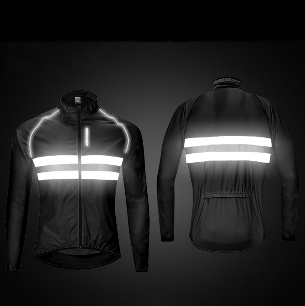 WOSAWE High visibility Windbreaker Motorcycle Jacket Wind Coat Men Women Waterproof Safety Motocross Mountain Bike Clothing enlarge