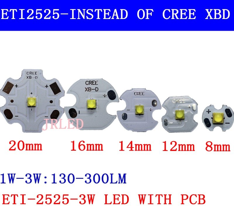 50 Uds 3W Nation Star 2525 SMD de alta potencia LED Chip emisor de luz blanco fresco Neutral blanco cálido blanco en lugar de CREE XB-D led