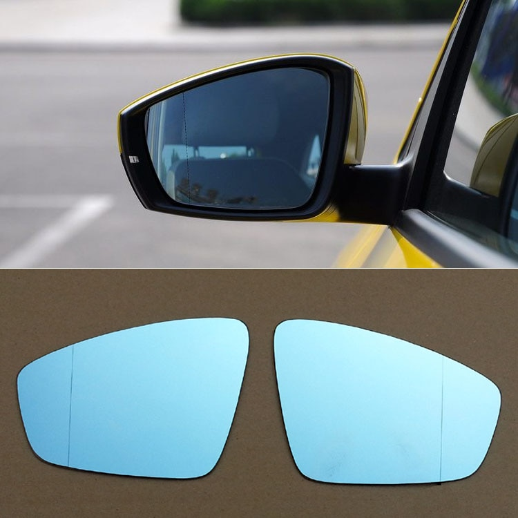 Para Volkswagen Polo espejo retrovisor para coche gran angular Hyperbola espejo azul flecha LED intermitente luces