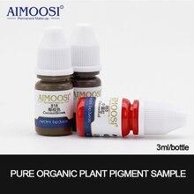 3 pièces/lot 3ml Aimoosi Nano Pigment Milkly pour maquillage Permanent sourcil et eyeliner et lèvres beauté maquillage tatouage encre