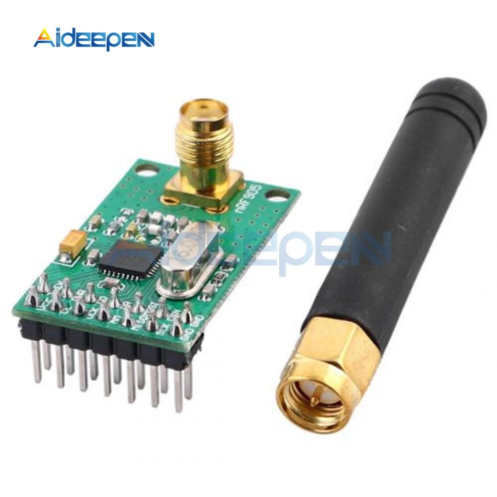 Placa receptora de transmisor inalámbrico NRF905 NF905SE Módulo Transceptor Inalámbrico con antena FSK GMSK de baja potencia 433 868 915 MHz