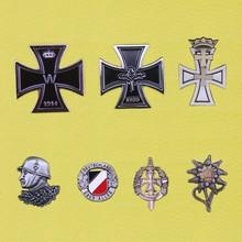 ww2 german germany badge wehrmacht iron cross pin insignia deutschland medals  military edelweiss luftwaffe