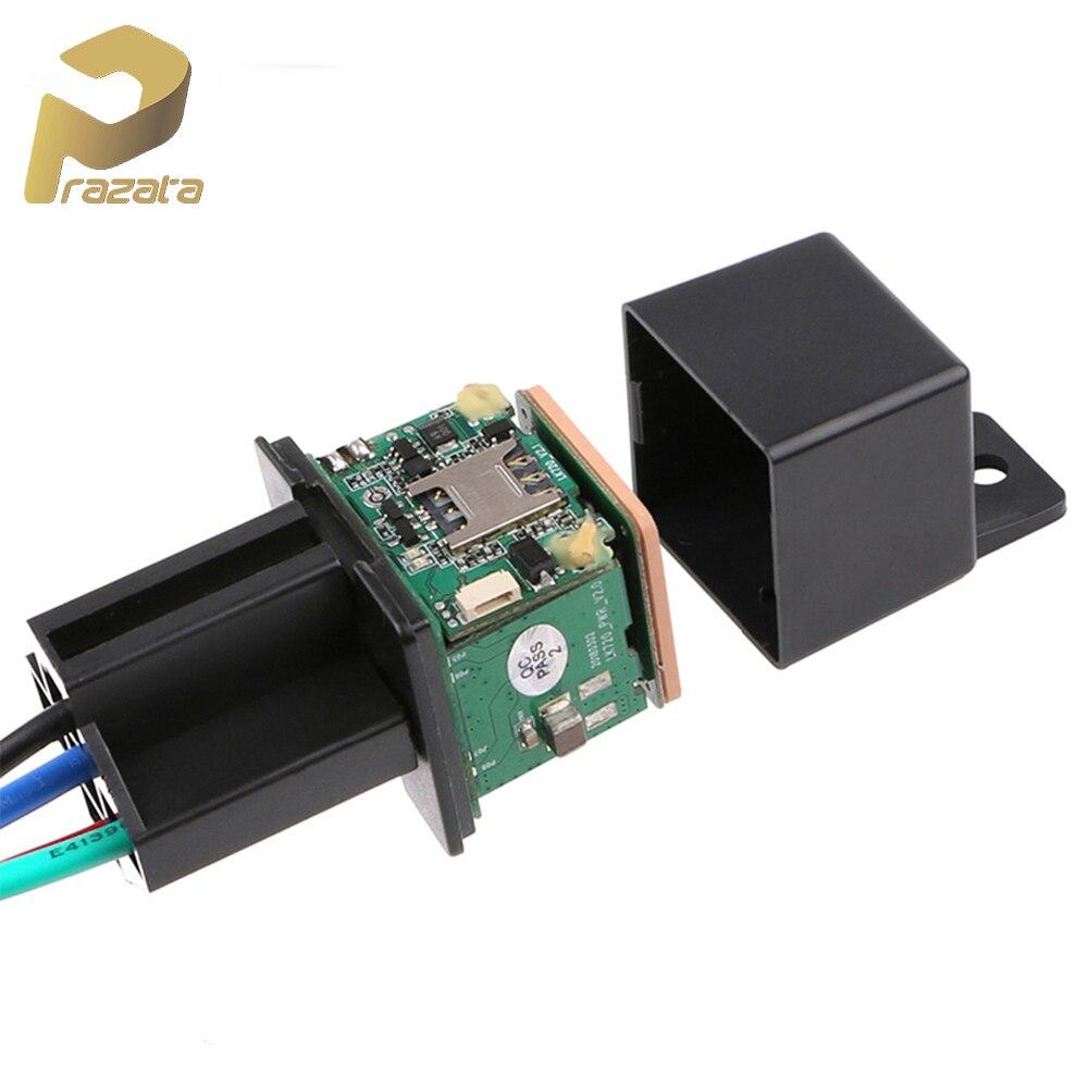 Prazata Mini GPS Tracker Car GSM GPS Locator Cut Off Fuel Hidden Design Car Tracker Google Maps Track Shock Alarm Free Web APP
