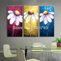 modern abstract huge large canvas art oil painting smile flower home decoration for living room