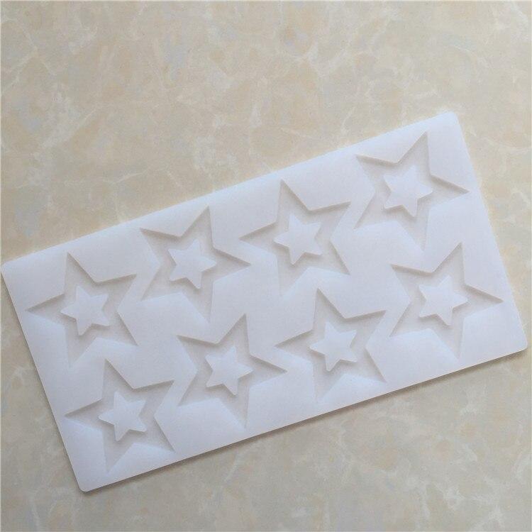 Punto al por mayor 8 incluso cinco puntas estrella de silicona molde de chocolate inserte el borde del molde accesorios DIY XG806