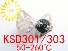 KSD303 interrupteur température normalement fermé   Remise à niveau manuel, 10A 260 V KSD301, Thermostat x 10 pièces, livraison gratuite 50-250 degrés