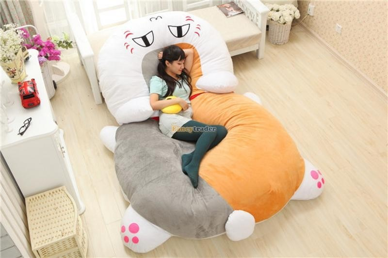 Fancytrader de alta calidad gato cama de 210cm X 150cm enorme gigante lindo gato cama tatami alfombra sofá regalo para niñas envío gratis FT90287