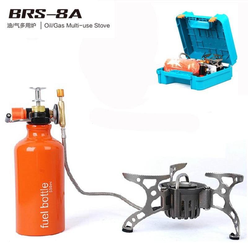 BRS-8A التخييم موقد غاز النفط/الغاز متعددة الاستخدام المحمولة الظهر موقد مع تحمل حقيبة للتخزين ل نزهة الطبخ في الهواء الطلق
