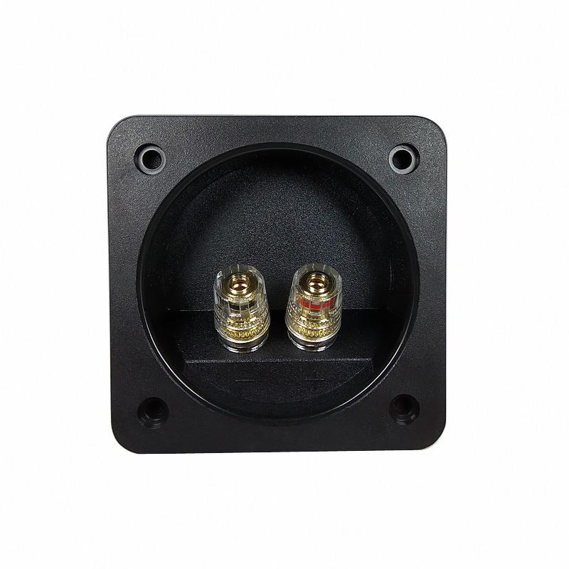 Finlemho 2PCS PRO80 Square Speaker Terminal Plate Double Binding Post Input Plate For Home Theater Audio HiFi Bookshelf Speaker