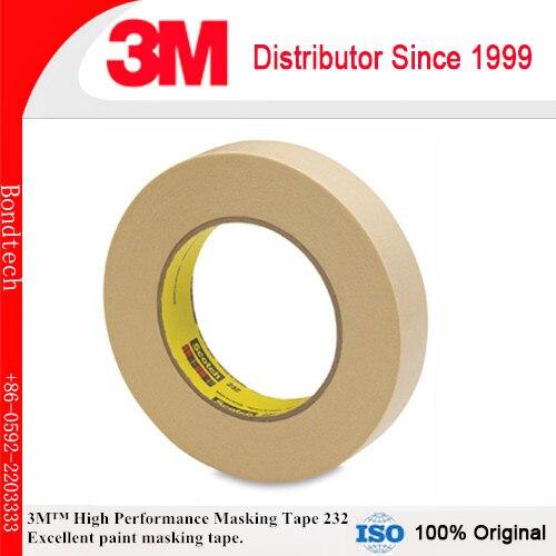 3mm X 55 M (Pacote de 10) 3 M 232 Alta Performance Scotch Fita Adesiva para o Meio temperatura cozer pintura operações