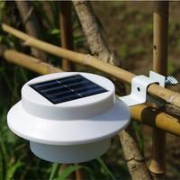 5pcs/set Waterproof LED Solar Powered Fence Gutter Solar Light Outdoor Security Lamps Garden Yard Tree Solar Lighting Wall Lamps