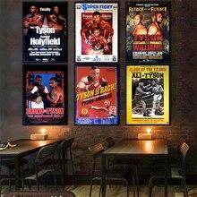 Poster de papel de impressão hd mike tyson famoso campeão de boxe branco papel kraft cartazes poster casa decoração da etiqueta de parede 42*30cm