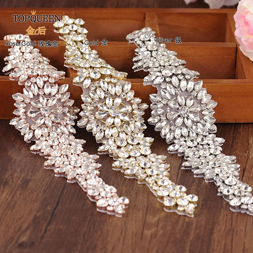 TOPQUEEN S319 livraison gratuite strass ceintures de mariage ceintures de mariage, ceintures de mariée en cristal ceintures de mariée pour robe de mariée