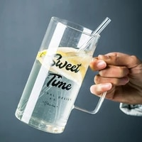 700ml large heat resistant borosilicate glass coffee mug tea mug cup water beer glass mug coffee cup drink mug dinkware