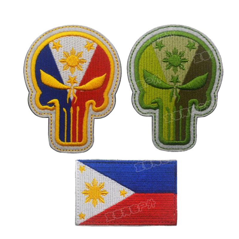 Equipo táctico 3D, gancho militar, bordado, Filipino, Punisher Shantou, parche para brazalete McGrady, parche, insignia, etiqueta de tejido de brazo