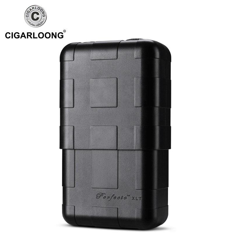 CIGARLOONG Cigar Moisturizing Humidor Portable Cedar Wood Cigar Case Large Capacity Fit 8 Cigar Case CLA-B08