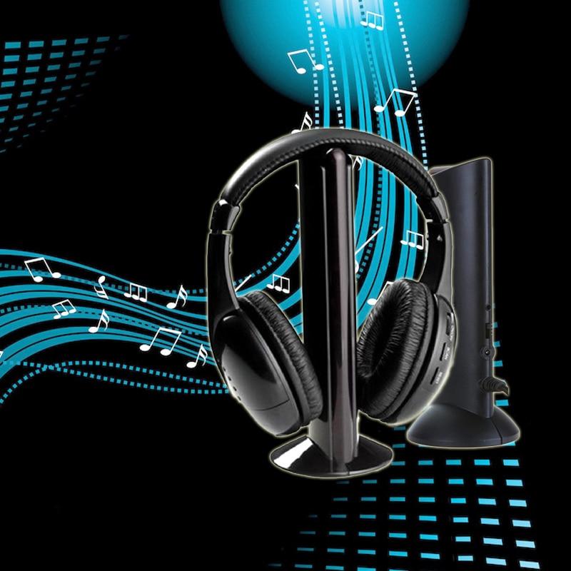 Marsnaska  Hot Sale 5 in 1 Wireless Headphones Watch Tv Earphone Cordless Headset for MP3 PC Stereo TV FM iPod