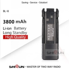 1 Pc 2 Stuks BL-8 Batterij Vergroten 3800 Mah 2800 Mah Camo Baofeng Uv-82 Batterij Voor UV-82HP UV82 Plus UV-8D UV-82WX UV-89 Uv 82 Batterij