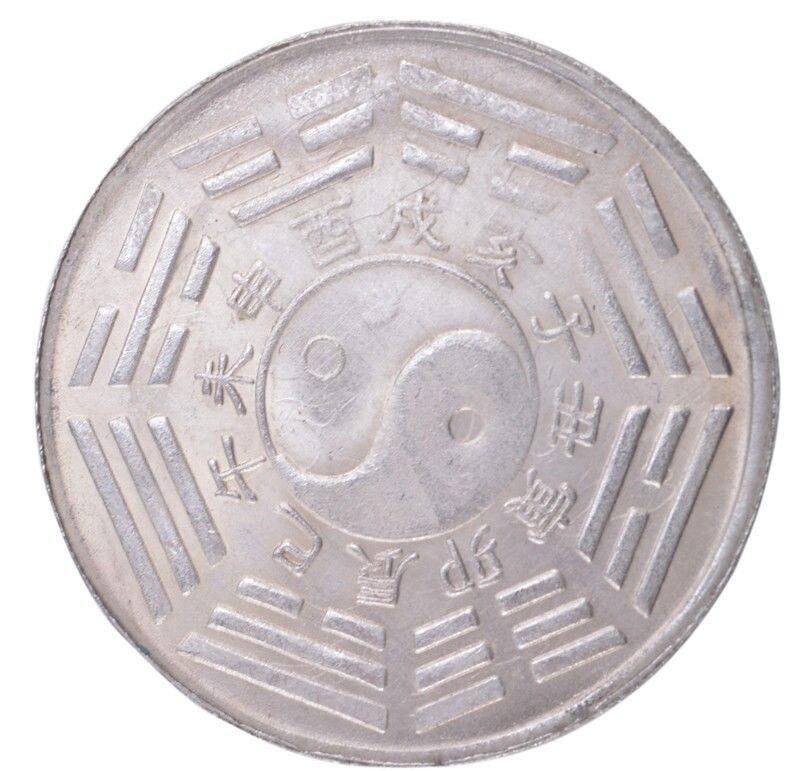 Horóscopo chino del Zodíaco-Ox, moneda coleccionable de Feng-Shui Ying-Yang de 38mm