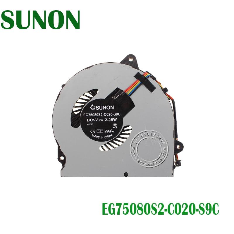Original ordenador portátil ventilador de refrigeración de la CPU para LENOVO para SUNON G51 35 G51-35 EG75080S2-C020-S9C DC5V 2,25 W DC28000CJS0 EG75080S2-C020-S9C