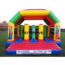 Bounce dom nadmuchiwane tor przeszkód zamek do skakania Moonwalk trampolina dla dzieci nadmuchiwane bramkarz nadmuchiwany zestaw zamek