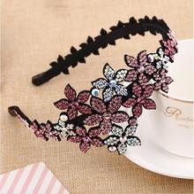 New Luxury Full Rhinestone women hairbands crystal headbands exquisite flower women hair accessories head hoop
