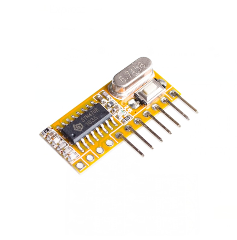 RXC6 433 Mhz superheterodine receptor inalámbrico PT2262 código estable para/módulo AVR con modo de código de aprendizaje