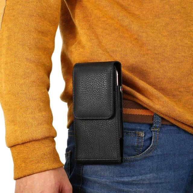 Verticial Rotary hombre Clip de cinturón correa de cuero del teléfono móvil de tarjeta caso para LG V10 V20... cargadores de escritorio Asus Zenfone 3 Deluxe ZS570KL