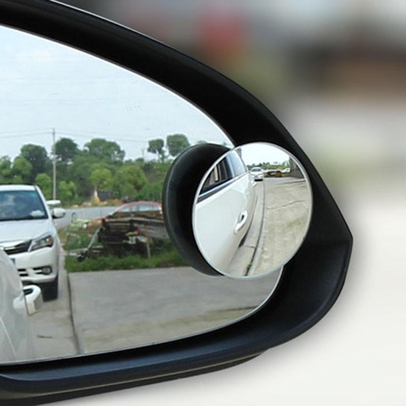 Hiyork Car 360 градусов бескаркасное зеркало для слепых мест широкоугольное Выпуклое маленькое круглое боковое зеркало заднего вида парковочное...