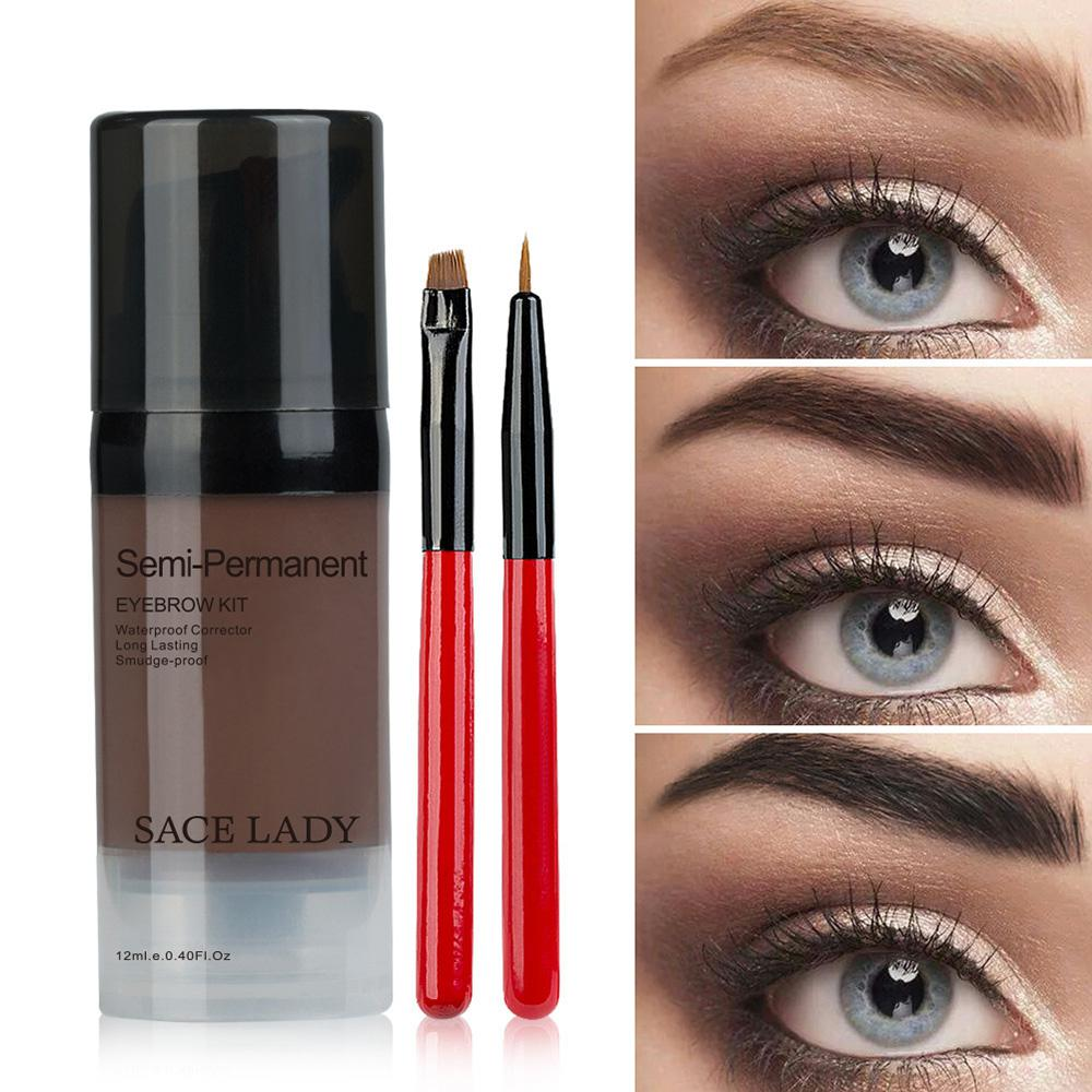 3 uds Henna para cejas tinte de Gel sombra de maquillaje impermeable para cejas cera sombra de tinte de larga duración maquillaje pomada cosmética