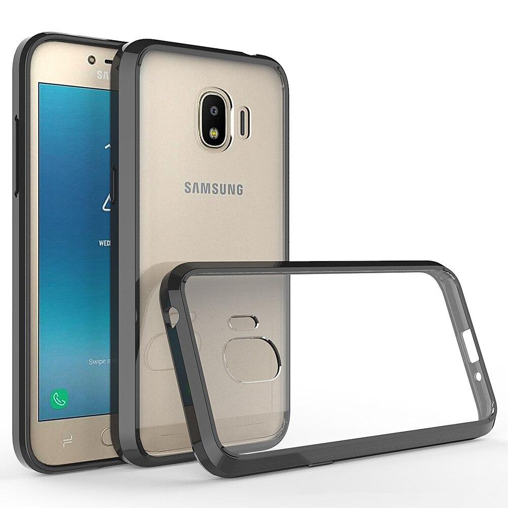 Housse de coussin dair de couverture antichoc hybride sac de téléphone de coque arrière transparent pour Samsung Galaxy J2 Pro 2018 J2Pro SM J250 5.0 pouces