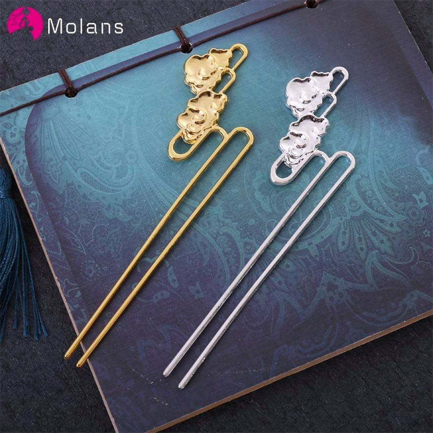MOLANS antiguo chino horquilla de novia para boda de aleación de Metal de la nube de Phoenix, accesorios para el cabello para clásico de las mujeres