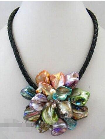 Ожерелье с цветком ручной работы, 70 мм, 6,07